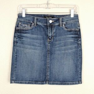 WHBM Embroidered Pocket Mini Denim Skirt Size 6